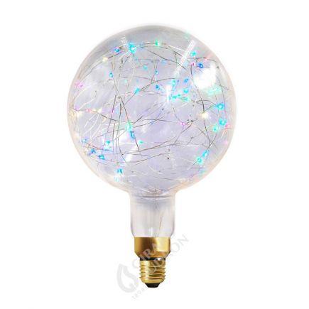 Globe HAPPY IN G200 LED 1,5W E27 RGB Clair