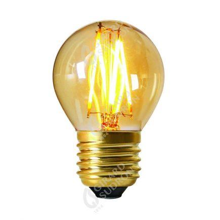 Sphérique G45 Filament LED 4W E27 2200K Ambrée Dimmable