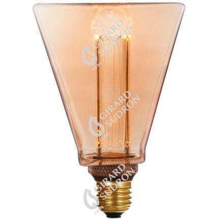 VIS VERSA Ampoule LED Ambré triangle E27 D31,5mm 4W 200lm 1800K