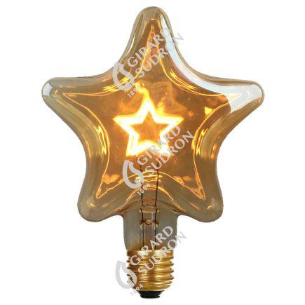 Ampoule E27 Etoile filament Etoile  2,5W 140x55x180mm 125lm 2000K