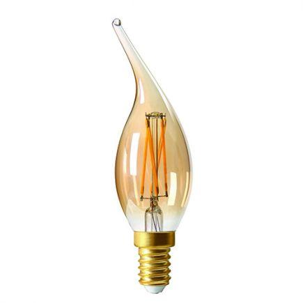 Flamme CV4 Filament LED 5W E14 2500K 500Lm Amb.