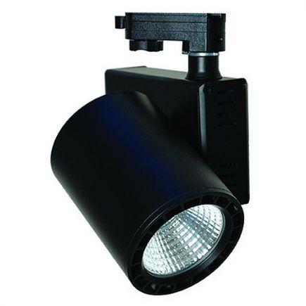 Jacinto - Projecteur sur rail LED Ø99 x 148 35W 3000K 2975lm 36° noir