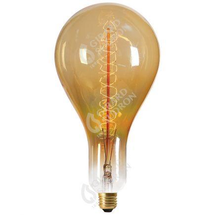 Ampoule Filament Métallique Spiralé 290mm 24W E27 2000k Ambrée
