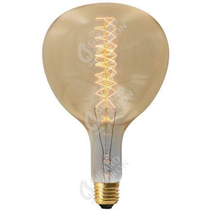 Lampe Poire R180 Filament Métallique Spiralé 24W E27 2000K Ambré