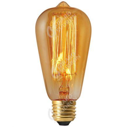 Edison Filament Métallique Droit 24W E27 2000K Ambr2