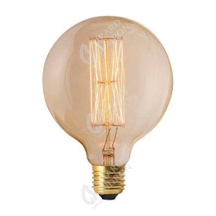 Ampoule Globe D125 Filament Métallique Droit 24W E27 2200K Claire