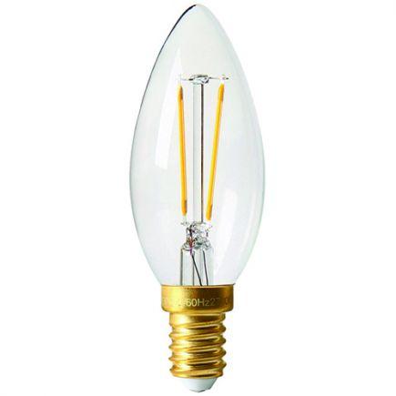 Flamme C35 Filament LED 2W E14 2700K 220Lm Claire