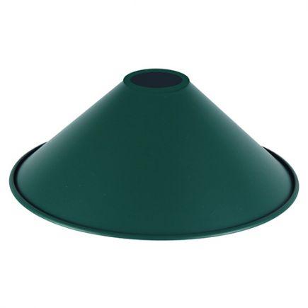 Abat-jour métal conique ø220mm vert bouteille mat
