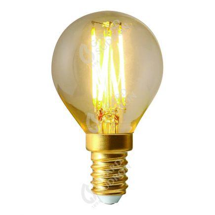 Sphérique G45 Filament LED DROIT 4W E14 4000K 320lm Dimmable Claire