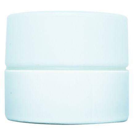 PORCELAINE VINTAGE Applique G9 hublot avec verrerie opaline Blanc