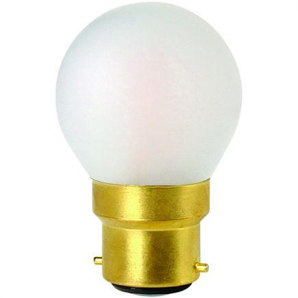 Sphérique G45 Filament LED 4W B22 2700K 330Lm Dim. Mat.
