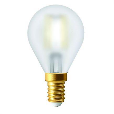 Ecowatts- Sphérique LED 4W E14 2700k 400lm Satinée