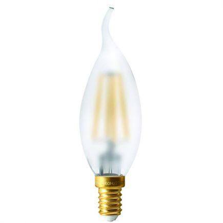 FS Ecowatts - Lot de 2 Ampoules Filament LED - Flamme CDV 4W E14 2700K Mat 3125469986652