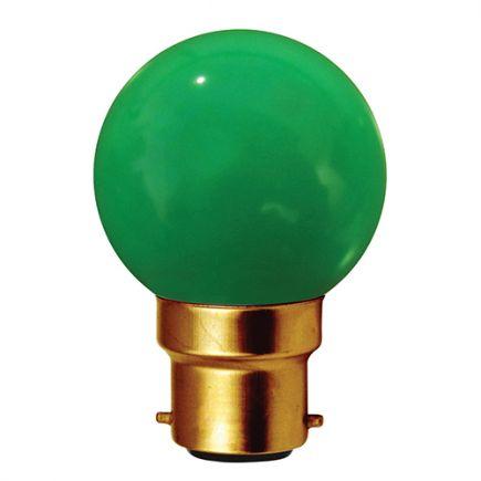 Sphérique LED 1W B22 30lm VERT