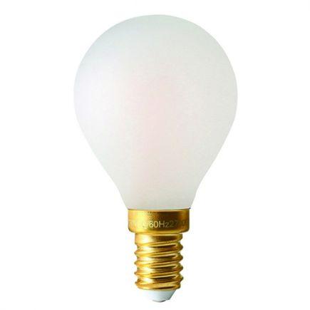 Sphérique G45 Filament LED 4W E14 2700K 300Lm Dim. Mat.