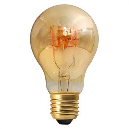 Standard A60 Filament LED Torsadée 3W E26 100lm Dim. Ambre