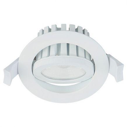 Cavell - Spot encastré inclinable LED IP 65 Ø86 x 75 enc.Ø75 10W 3000K 850lm 45° blanc