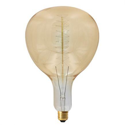 Lampe Poire R180 Filament Métallique Spiralé 24W E27 2000K Ambre