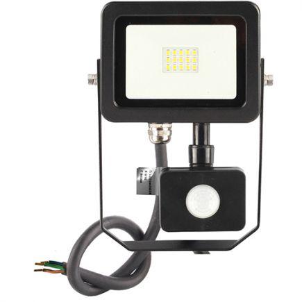 Yonna II - Projecteur LED 10W 4000K 1000lm 110° IP44 noir PIR