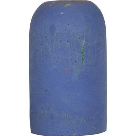 Douille Béton E27 H.82mm Bleu Clair