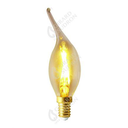 Flamme COUP DE VENT CV4 Filament LED 2W E14 2700k 220lm Claire