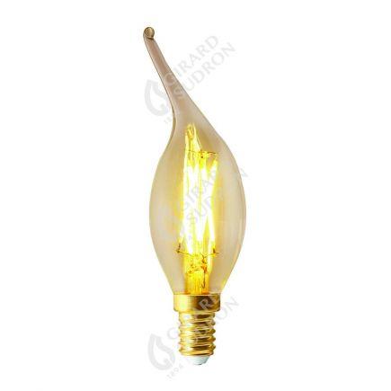 Flamme COUP DE VENT CV4 Filament LED 4W E14 2700k 320lm Dimmable Claire