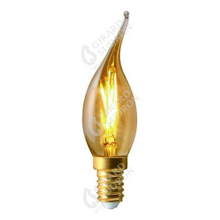 Flamme COUP DE VENT CV4 Filament LED 2W E14 2500k 200lm Ambrée