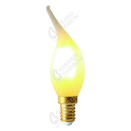 Flamme COUP DE VENT CV4 Filament LED 4W E14 2700K 300Lm Dimmable Mate