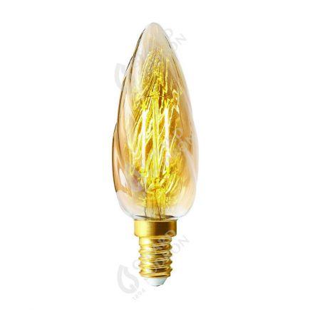 Flamme F6 Filament LED 2W E14 2500K 200lm Ambrée
