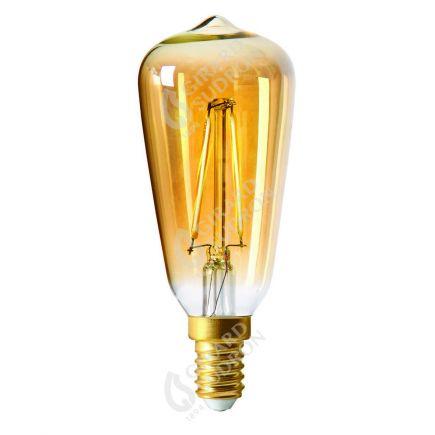 Mini Edison LED Filament DROIT 1W E14 2500k 105lm Ambrée
