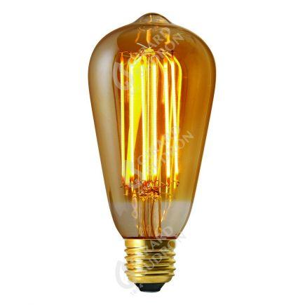 Edison Filament LED DROIT 2W E27 2100k 160lm Ambrée