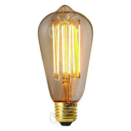 Edison Filament LED DROIT 4W E27 2300k 300lm Dimmable