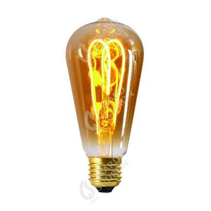 Edison Filament LED LOOPS 5W E27 2000k 260lm Ambré
