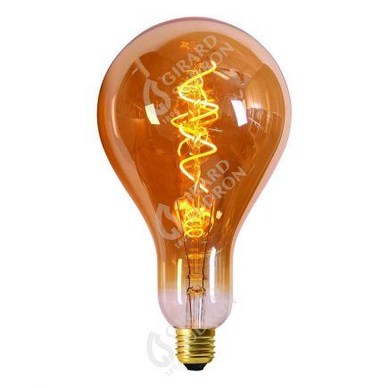 Ampoule Géante 240mm Filament LED spirale 4W E27 2000k Ambrée