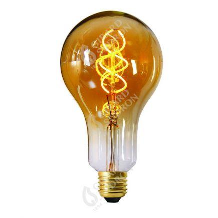 Ampoule Géante 180mm Filament LED spirale 4W E27 2000k Ambrée