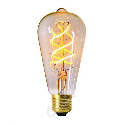 """Ampoule Edison """"Twisted"""" LED 5W E27 2200k 300lm Claire"""
