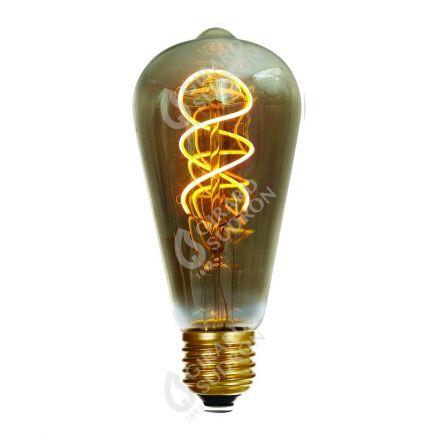 Edison Filament LED TWISTED 5W E27 2000K 220lm Smokey