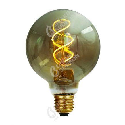 Globe G95 Filament LED TWISTED 4W E27 2000K 160Lm Dimmable smokey