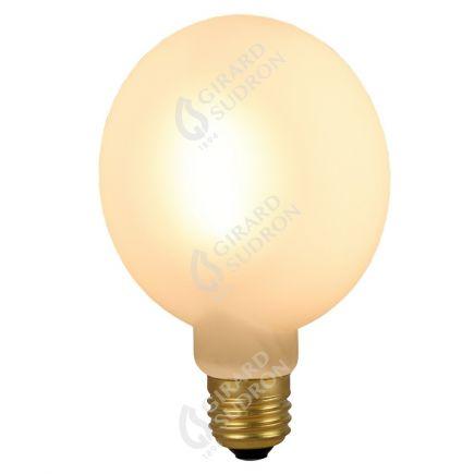 Ampoule Plate G105 6W 600lm E27 2700K Opaline Dimmable