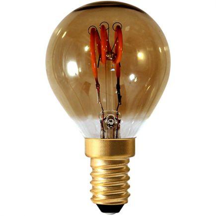 Sphérique G45 Filament LED 3 LOOPS 3W E14 2000K 90lm Dim. Smoky