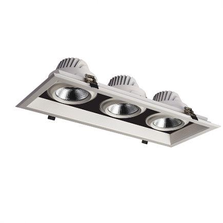 FS Jay - Spots encastrés multiples LED 502x200x107 enc.475x175 3x30W4000K 8100lm 36° blanc