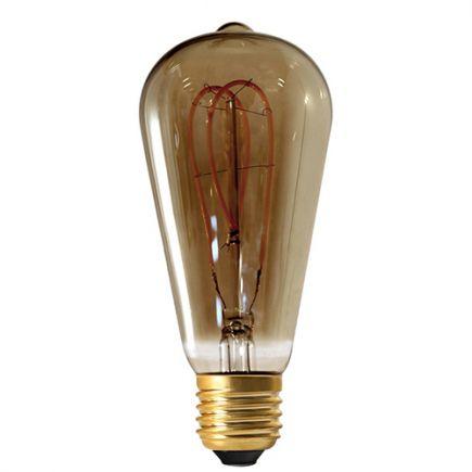 Edison Filament LED LOOPS 4W E27 2000K 200Lm Dim. SMOKY