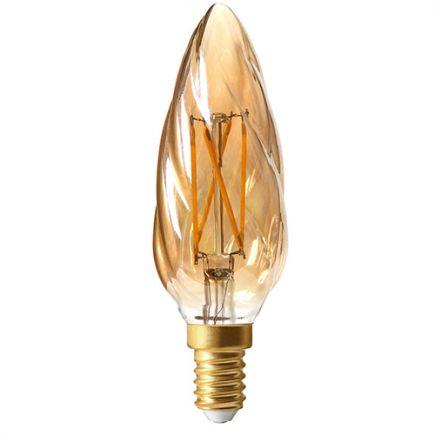 Candle F6 Filament LED 5W E12 2500K 420Lm Dim. Amb.