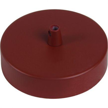 Pavillon acier sortie simple Ø100mm Rouge brique mat