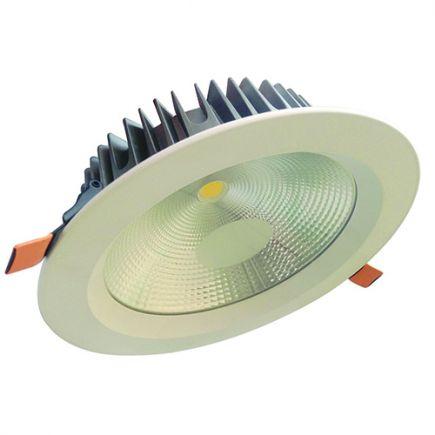 Alhena - Spot encastré LED Ø230x72 enc.Ø200 25W 3000K 1900lm 108° blanc