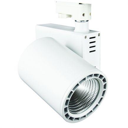 Jacinto - Projecteur sur rail LED Ø99 x 148 20W 4000K 1800lm 36° blanc