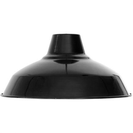 Abat-jour métal industriel ø270mm noir satiné