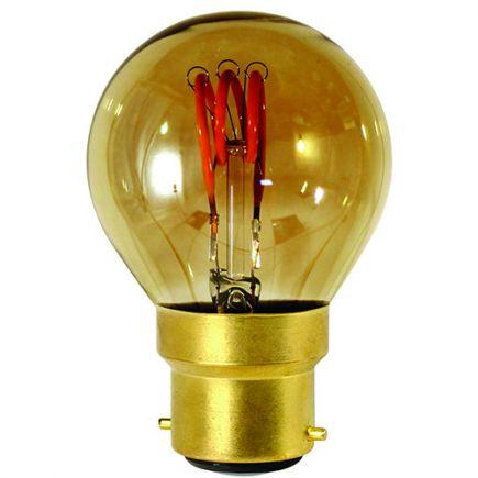 Sphérique G45 Filament LED 3 LOOPS 3W B22 2000K 90lm Dim. Smoky