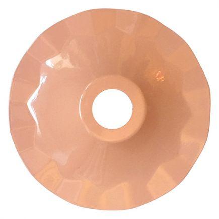 Abat-jour métallique Rose Ø187mm avec anneau de fixation en caoutchouc