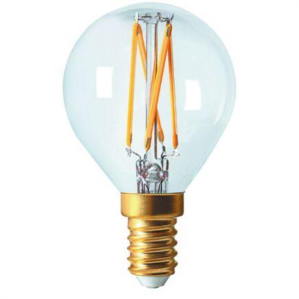 Golfball G45 Filament LED 5W E12 2700K 520Lm Dim Cl.